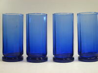 Anchor Hocking Essex Cobalt Blue 16 oz Tumbler Glasses Set of 4