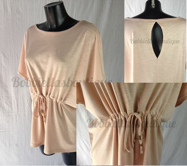 Womens Lightweight Dusky Peach Work Party Anytime Top Size 8 UK to Plus Size