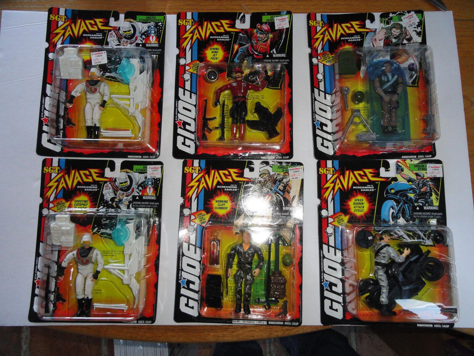 Lot of 8 G.I. JOE  Sgt. Savage  Action Figures MOC  1994
