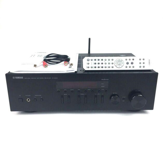 Yamaha 2 Channel Network Stereo Receiver R-N303 100 Watt Per Channel Bundle