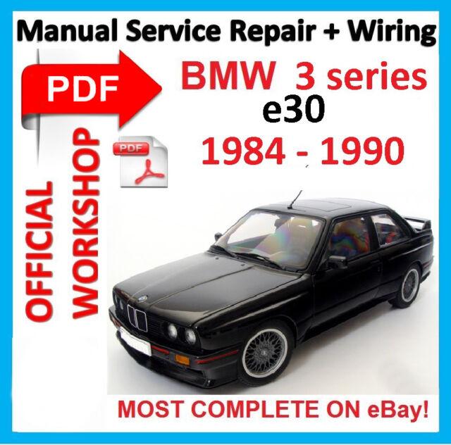 official workshop manual service repair for bmw series 3 e30 1984 rh ebay co uk Haynes Manual for Quads Haynes Manual Monte Carlo Back