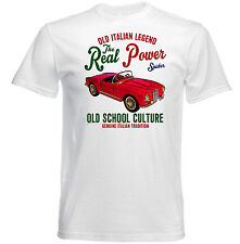 VINTAGE ITALIAN CAR LANCIA AURELIA B24 SPIDER - NEW COTTON T-SHIRT