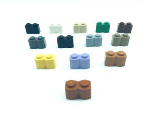 1x2 brick 30136 Lego ® 50 1x2 Palisadensteine hellgrau Palisaden grau