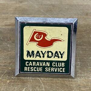 Vintage Mayday Caravan Club Rescue Service Car Grill Badge Automobilia Used VGC