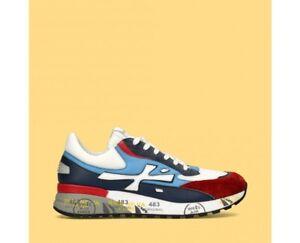 Premiata-DJANGO-4686-sneakers-in-camoscio-rosso-e-blu-con-inserti-in-pelle-76PU