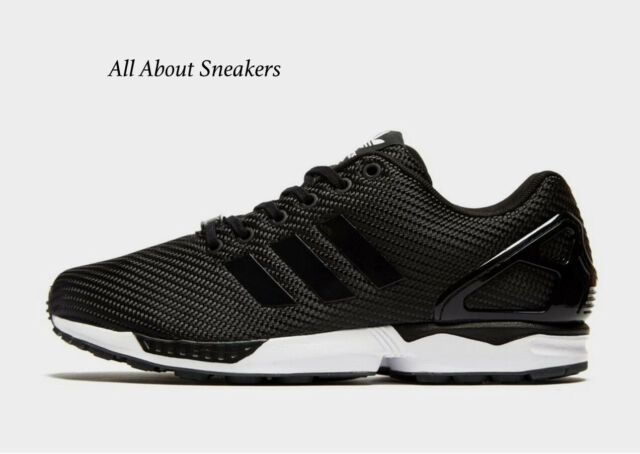 Adidas ZX Flux Black White Men's Trainers All Sizes Limited Stock