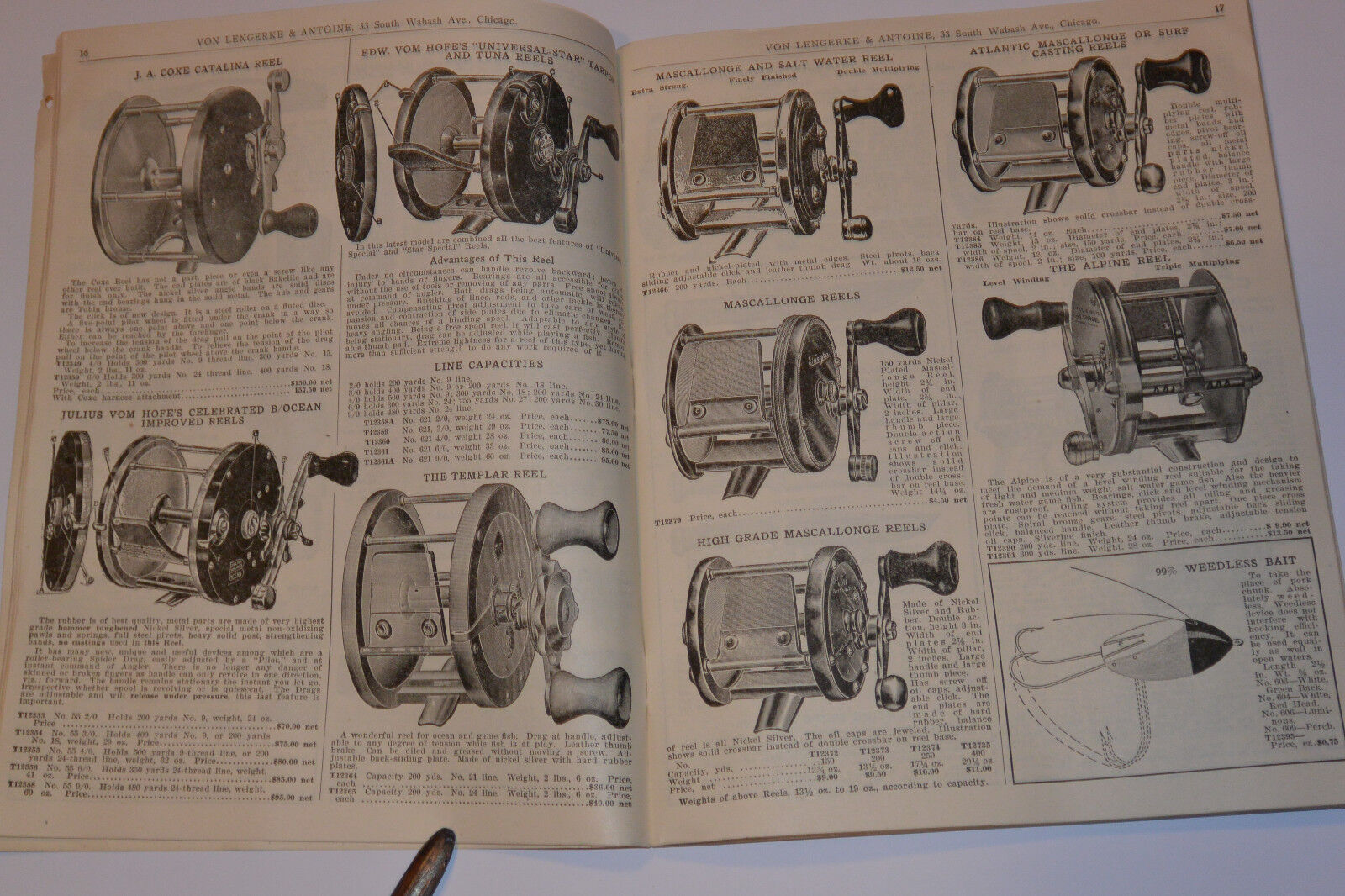 VINTAGE 1920s VL&A SPORTING GOODS S&S CATALOG  FISHING  RODS REELS LURES CAMPING   welcome to buy