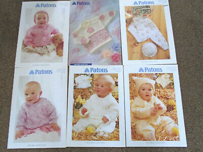 6 Patons Baby Knitting Patterns Double Knitting - Unused ...