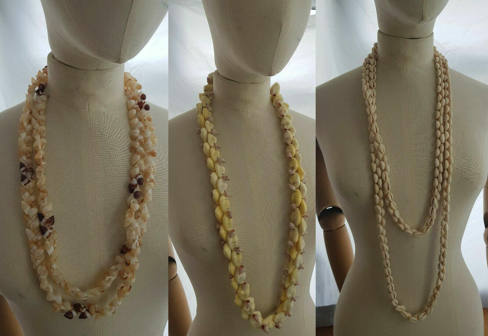 Hawaiian polynesian Shell Jewelry Bridesmaids 3 Necklaces Beach wedding