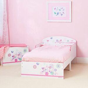 Blumen und Vögel Junior-Kleinkind-Bett Mädchen Kinder Schlafzimmer ...