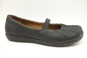 Born-BOC-Black-Leather-Mary-Jane-Slip-On-Flats-Shoes-Women-039-s-10-M