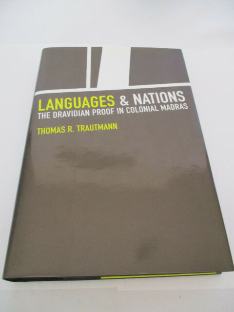 New Languages & Nations Dravidian Proof In Colonial Madras Hardcover Book