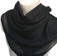 uni Tuch 100% Baumwolle schwarz Herren Damen Halstuch Kopftuch einfarbig 757