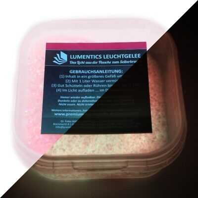 Zielsetzung Lichtspeicher-glitter-granulat Rosa/gelbgrün - Nachleuchtender Wasserspeicher Mi Feines Handwerk
