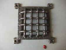 """cast iron Medieval door window grill cover 6""""  square gothic - ventilation grill"""