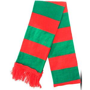 Neuf pour Femmes Homme Noël Festif Rouge Vert Rayures Elfe Écharpe ... 2418922f3e2