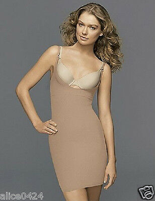 Flexees 2541 Take Inches Off Wear Your Own Bra Slip SMALL Nude NWT