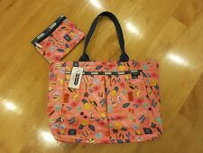 NWT LeSportsac EveryGirl Tote Bag Pouch Tropical Voyage 2PC Set $108