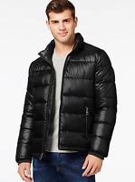 Guess Mens Black Puffer Coat Jacket $225