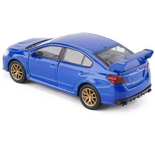 Subaru Impreza WRX STI 1:36 Metall Die Cast Modellauto Blau Spielzeug Pull Back