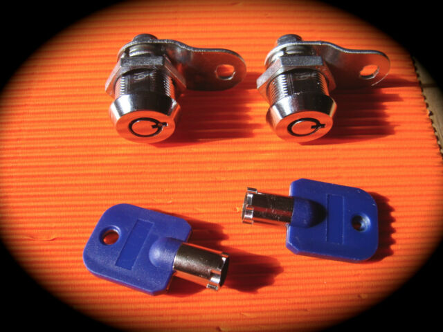 19mm Tubular Cam Lock-TWIN PACK- Arcade, Vending,Coin Operated,Pinball,Cupboard