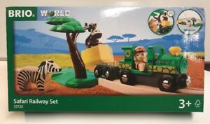 Brio World Wooden Railway 17-Piece Safari Railway Set #33720 , New