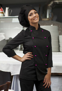 Caricamento dell immagine in corso Giacca-Cuoco-Casacca-Chef-Donna-Uomo- Cucina-Divisa- 8c8af9b092c3