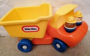 Vintage-LITTLE-TIKES-Construction-Camion-Benne-camion-a-benne-Complet-Avec-2-Figures