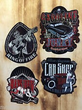 2x 4er oldschool Pinup Rockabilly Aufkleber Set - Hot Rod Cash Mens Ruin Sticker
