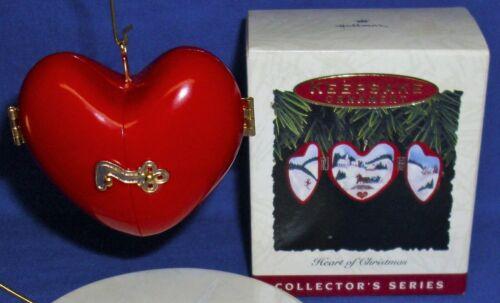 Hallmark Ornament Heart of Christmas #4 1993 Horse Sleigh Ski Church Opens NIB