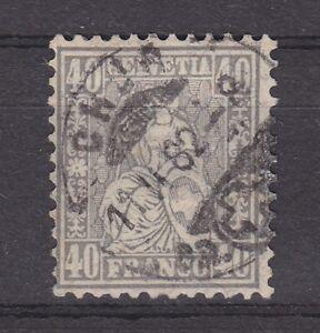 Schweiz-1881-MiNr-42-gest-40-C-034-Sitzende-Helvetia-034-Attest-Marchand