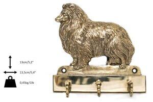 Berger Des Shetland- Cintre En Laiton Avec Un Chien, Haute Qualité, Art Dog Fr