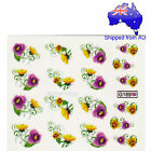 Purple and Yellow Viola Flowers Nail Art Water Transfer Decal