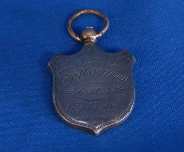 Civil War of 1861 Soldier ID Badge Medal 1st Maryland Artillery Battalion A