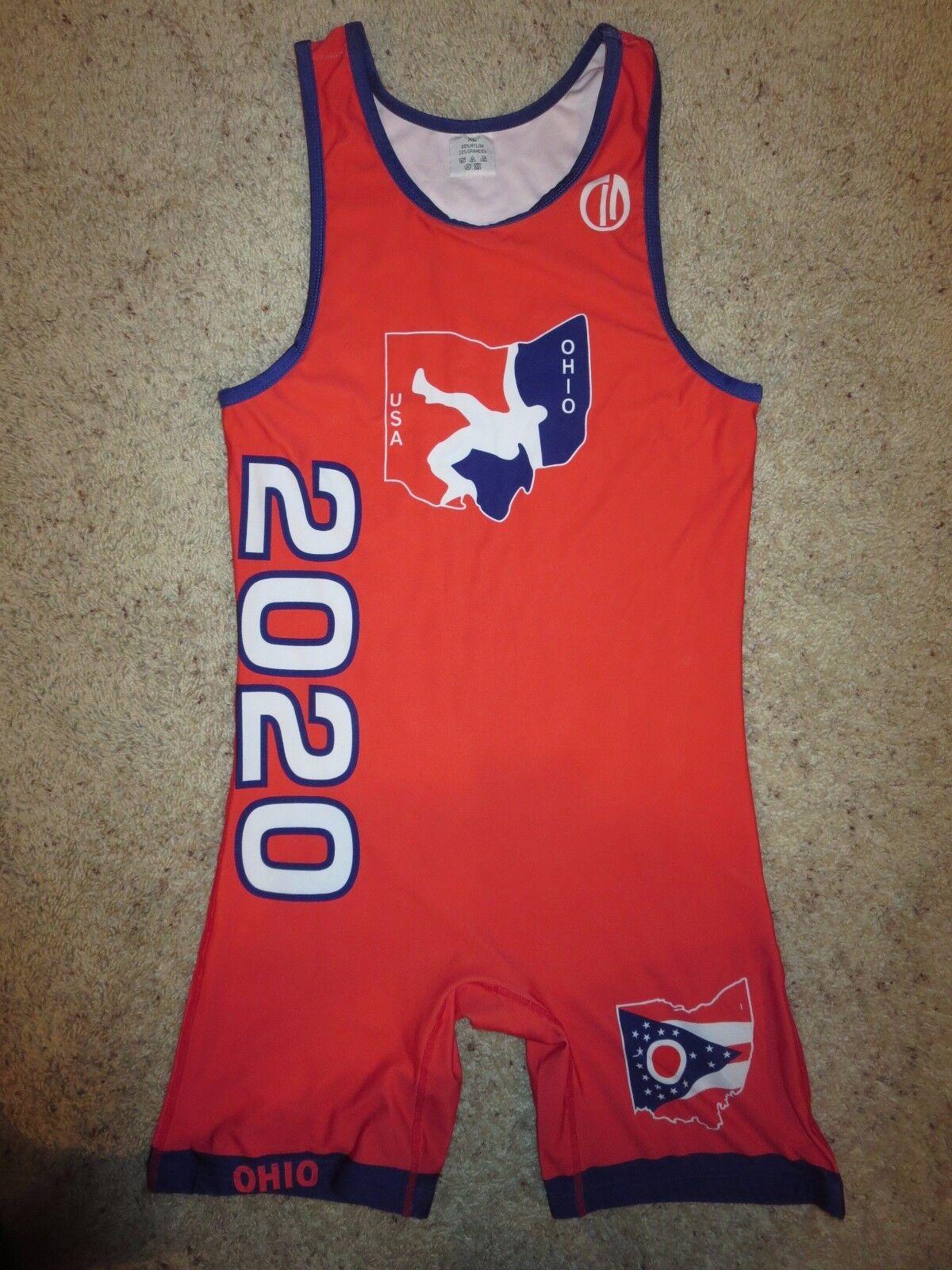 EEUU 2020 Olympics Us Lucha Libre Equipo Singlet Traje XL herren