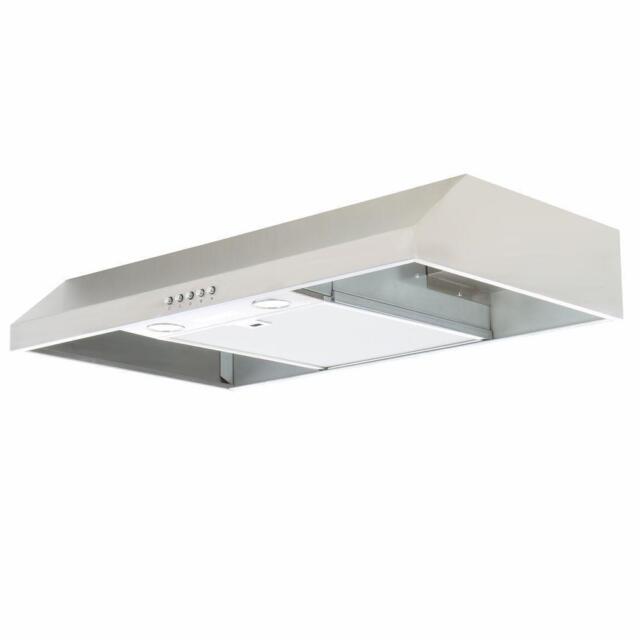 NEW Presenza QR025 30 Inch Under Cabinet Range Hood In Stainless Steel