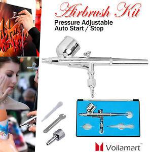 Dual-Action-Airbrush-Gravity-0-2mm-Air-Brush-Spray-Gun-7cc-Ink-Cup-Paint-Set-Kit