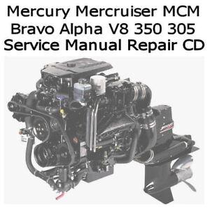 mercruiser gm v8 305 cid 5 0l marine engine full service repair manual 1993 1997
