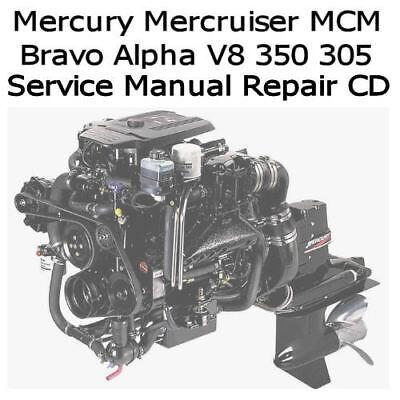 Mercury Mercruiser Marine Engines GM V 8 305 350 Service Manual Pdf CD Nice EBay