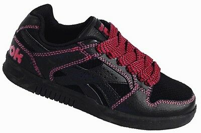 Reebok Boys KEWL CREW Black/Red Leather Trainers J92124 UK 13 K Only