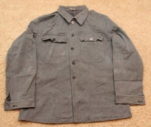 Image is loading VINTAGE-MILITARY-SURPLUS-UNIFORM-SWISS-ARMY-DENIM-WORK- e56785f98