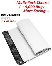 15000 Multi Pk 12x155 White Poly Mailers Shipping Envelopes Self Sealing Bags