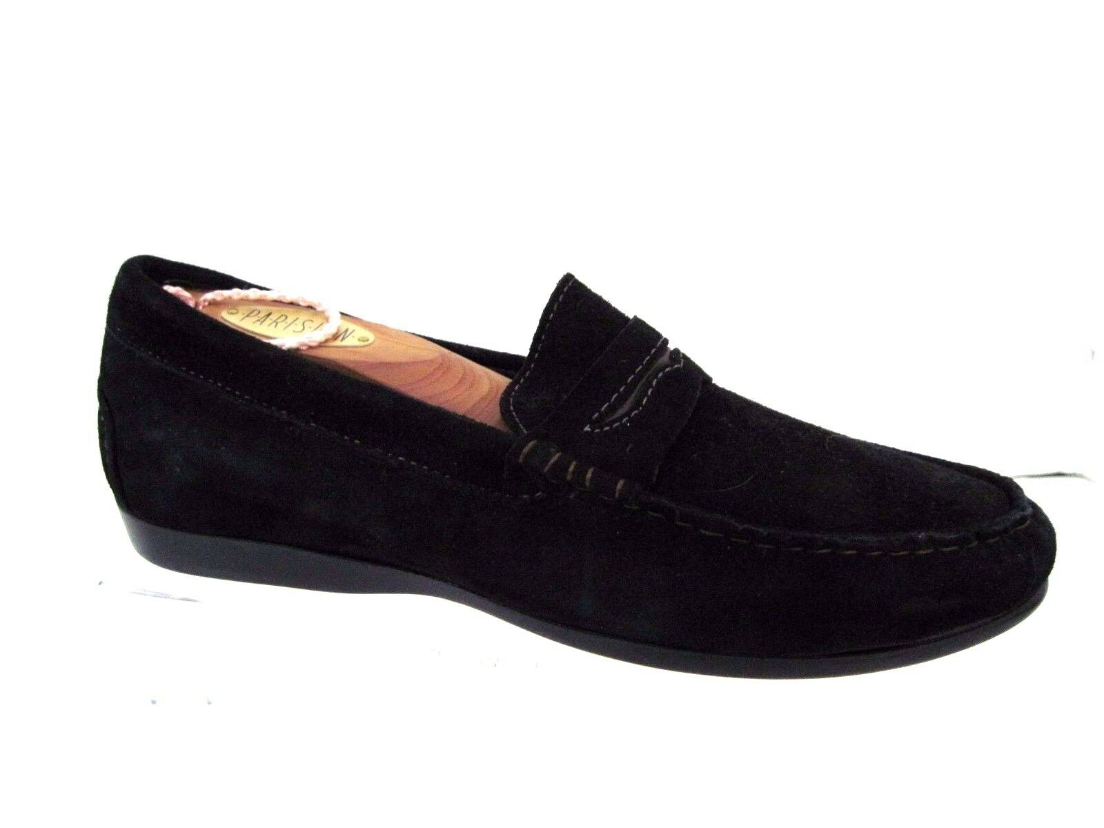 MUNRO American Black Suede Penny Style Loafers Size 6W USA