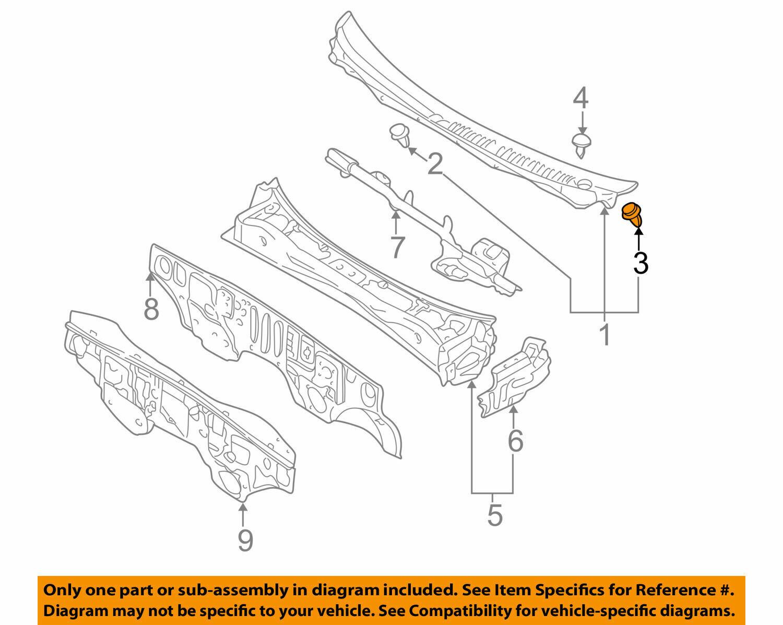 5X Fit Mitsubishi MB696120 Side Garnish Moulding Trim Rivet Retainer Clip