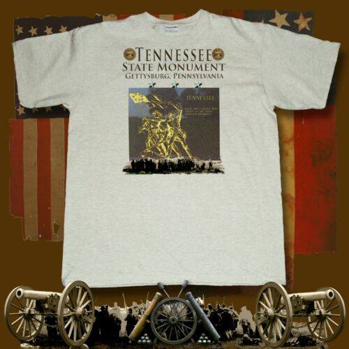 Tennessee State Monument Gettysburg Pa  American Civil War themed ash t-shirt
