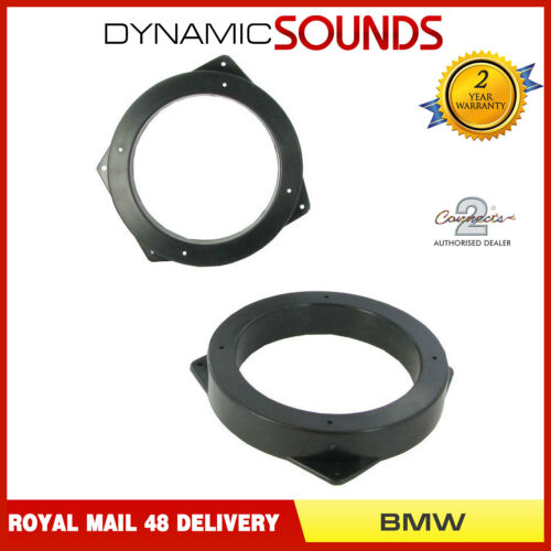 CT25BM04 130mm Front Door Speaker Adaptor Kit Rings For BMW Mini 2001-2006