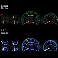 Dash Instrument Cluster Gauge Aqua Blue Led Lights Kit Fits 87-91 Ford F150 F250