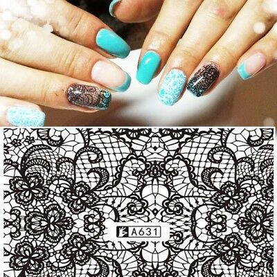 ❤️NOUVEAU STICKERS DENTELLE BIJOUX ONGLES WATER DECALS STICKERS NAIL ART