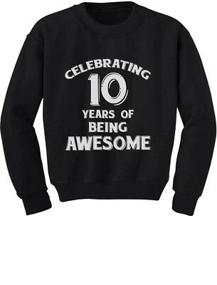10 Years Of Being Awesome Birthday Gift For Year Old Youth Kids Sweatshirt