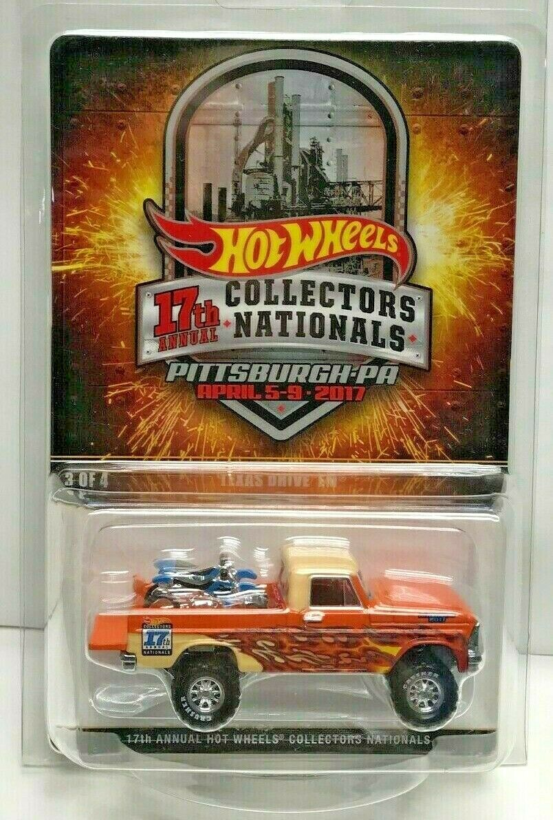 Convenio nacionales Hot Wheels 17th 2017 arancia Texas drive'em RR  2800 le